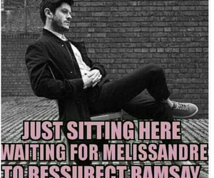 game of thrones, iwan rheon, and melissandre image