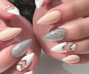 nails, white, and girls image