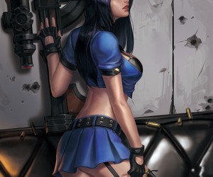 lol, officer, and caitlyn image