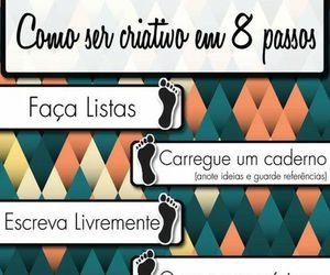 criatividade, passo a passo, and dicas image