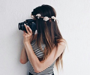 camera, girl, and times image