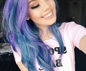 blue hair, hailie barber, and gorgeous image