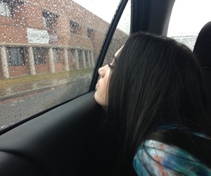 girl, grunge, and rain image