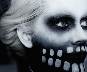 Fever Ray, skull, and make up image
