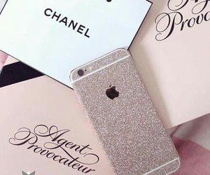 iphone, chanel, and apple image