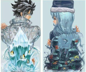 anime, ice, and gray fullbuster image