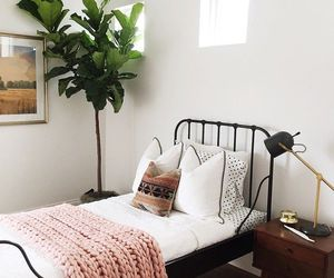 bed, decor, and fashion image