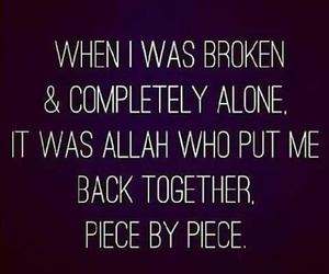 alone, broken, and quote image