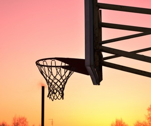 sunset and bascetball image