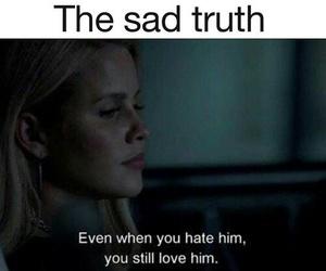 love, sad, and hate image