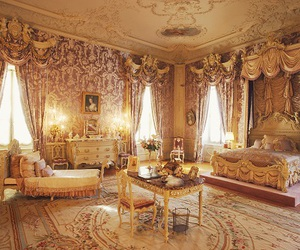 bedroom, gold, and room image