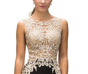 lace, Prom, and prom dress image