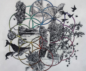 art, coldplay, and draw image