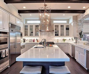 kitchen, chic, and dream house image