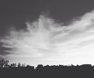 blackandwhite, sky, and clouds image