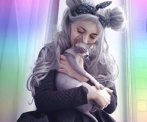 grey hair, hair color, and uniwigs image