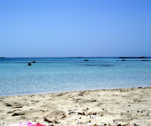 beach, blue, and crete image