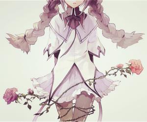 anime, anime girl, and rose image
