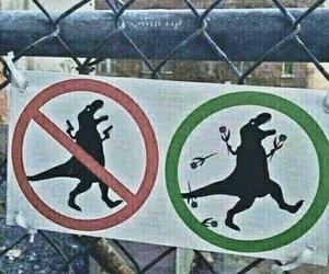 dinosaur, grunge, and funny image
