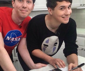 dan howell, danisnotonfire, and phil lester image
