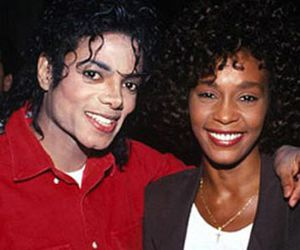 michael jackson, whitney houston, and smile image