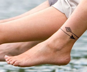 tattoo, arrow, and ink image