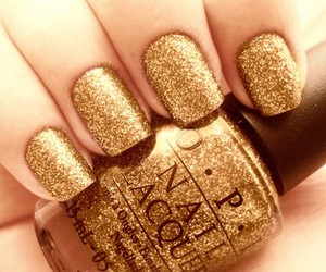 glam, gold, and nails image