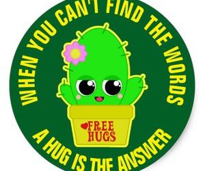 cactus, hugs, and cute image