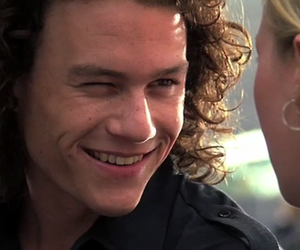 heath ledger, 10 things i hate about you, and smile image