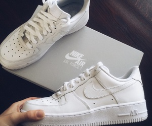 nike, white shoes, and nike airforce one image