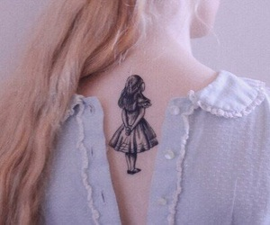 tattoo, alice, and pink image