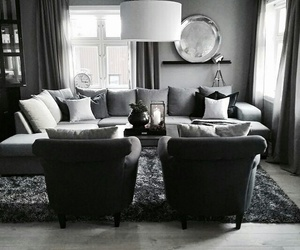 black, grey, and home image