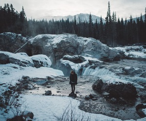 nature, winter, and girl image