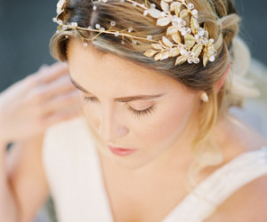 hair, beautiful, and wedding image