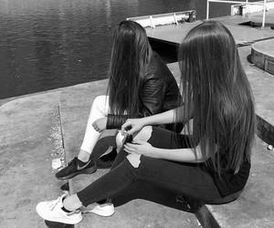 friends, girls, and hair image