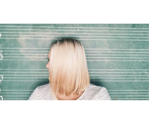 blonde, creative, and short image