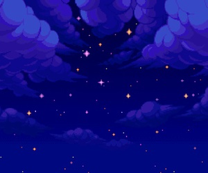 pixel, sky, and stars image