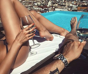 couple, summer, and luxury image