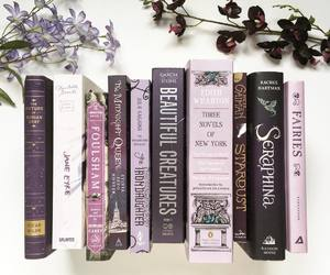 book, reading, and purple image