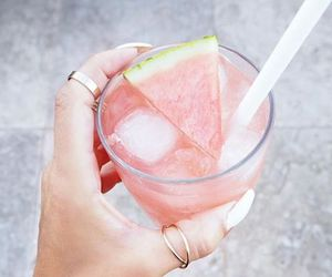 drink, fruit, and watermelon image