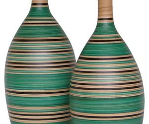 decor, listrado, and vaso decorativo image
