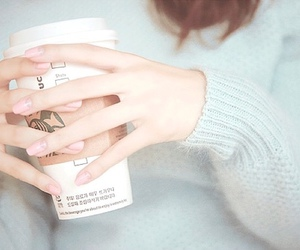 nails, fashion, and coffee image