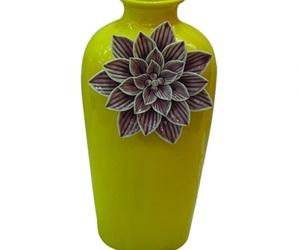 flor, vaso decorativo, and verde limão image