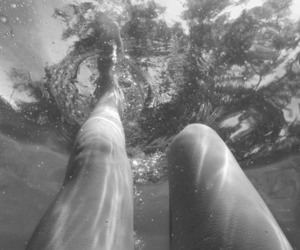 dive, legs, and water image