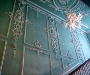 chandelier and blue image