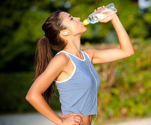 fitness, fit, and water image