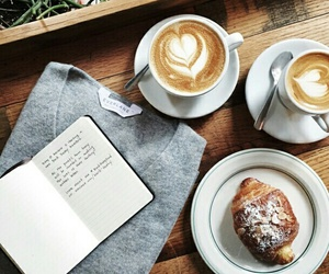 coffee, food, and book image