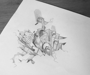 3d, city, and draw image