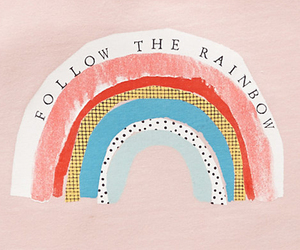 rainbow, aesthetic, and pink image