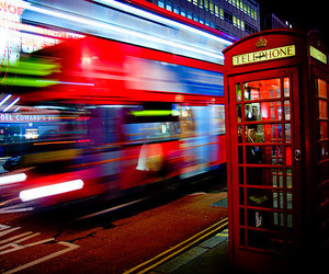 london, telephone, and bus image